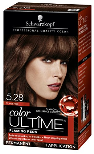 Schwarzkopf Color Ultime Hair Color Cream, 5.28 Cocoa Red (Packaging May Vary) (Red Cocoa)