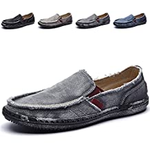 CASMAG Men's Casual Cloth Shoes Canvas Slip-On Loafers Outdoor Leisure Walking Sneakers