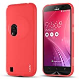 J&D Slim Shock Resistant Cushion Jelly Case for Asus Zenfone Zoom - Red