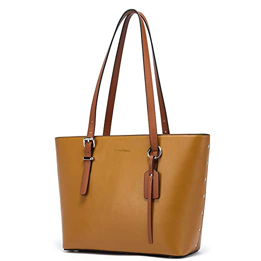 870a713bc8a2 MANTOBRUCE Women Leather Handbags Purses Designer Tote Shoulder Bag Top  Handle Bag for Work Travel