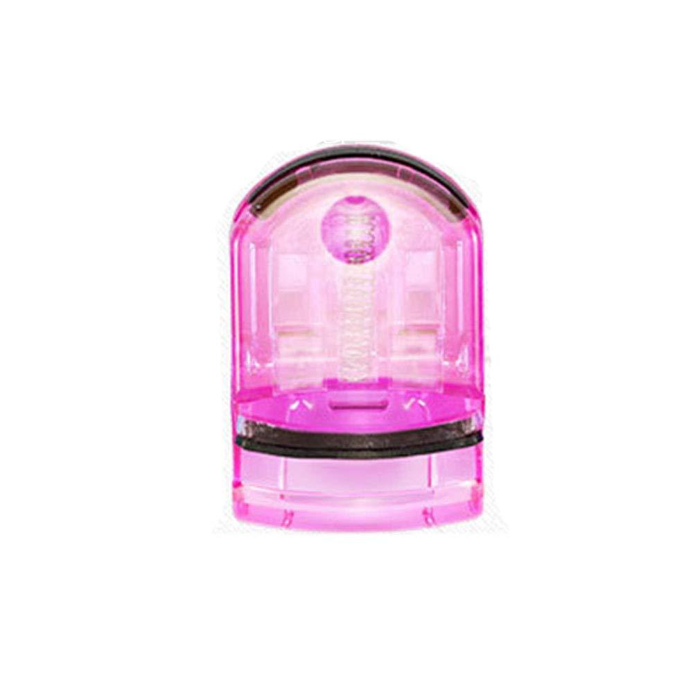 2pcs mini recourbe-cils en plastique avec tampon de recharge, bigoudi de cils naturel à ressort résistant, formes charmantes cils bouclés Qianming Qianming-12