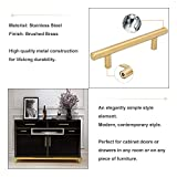 Goldenwarm 3in Hole Centers Brushed Brass Cabinet
