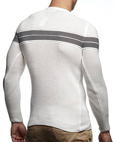 Sweatshirt Leif Rond Des Basic Ecru Pour Hoodie Pullover Tricot Hommes Crew Nelson Neck Col Sweater En Manche Ln1435 Feinstrick Longsleeve Pull Longue 6qrFP6w