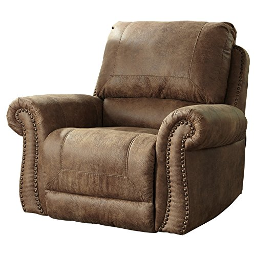 Recliner Rocker Signature (Ashley Furniture Signature Design - Larkinhurst Rocker Recliner - Manual Reclining Chair - Traditional Style - Earth)