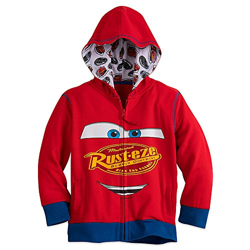 Boys Disney Lightning Mcqueen Cars (Disney Lightning McQueen Zip Hoodie for Boys - Cars 3 Size 7/8)