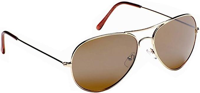 Eye Level Kids Childrens Boys Girls Aviator Squadron Gold Sunglasses Mirror or Brown New