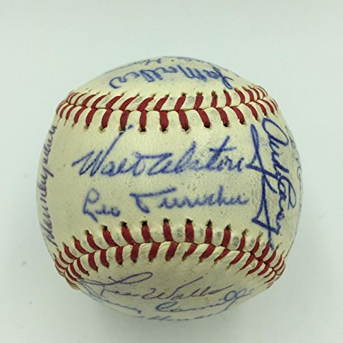1962 Los Angeles Dodgers Team Signed Baseball Don Drysdale Walt Alston Durocher ()