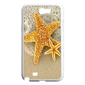 Qxhu Starfish Hard Plastic Cover Case for Samsung Galaxy Note2 N7100