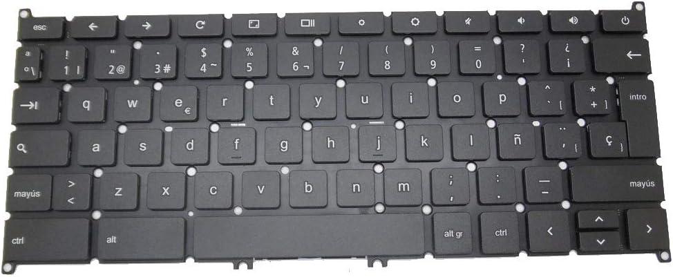 GAOCHENG Laptop Keyboard for Acer Chromebook C740 NSK-RB0SQ 0S AEZHQP00010 9Z.NBRSQ.00S NK.I1117.03U Spain SP Without Frame
