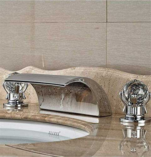 Deck Mount Basin Set - Taps Sink Taps Hot And Cold Faucet Bathtub Mixer Faucet Set Deck Mount Bathroom Tub Basin Sink Faucet