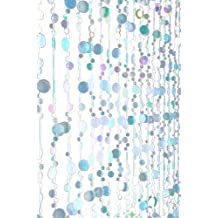 ShopWildThings Beaded Curtain Bubbles Glow-in-the-Dark Blue Acrylic