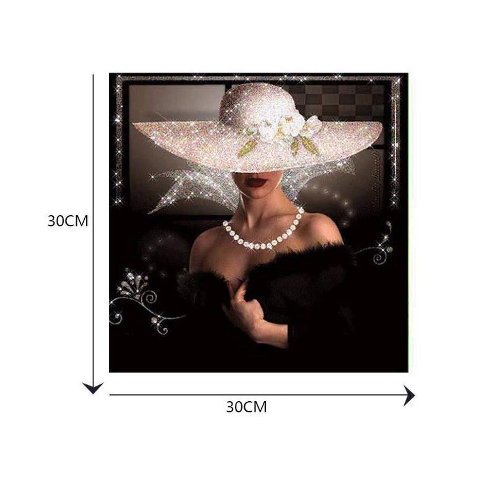 KEEN ZTQ - Cuadro de Punto de Cruz, diseñ o de Mujer con Bordado de Diamantes, para decoració n del hogar diseño de Mujer con Bordado de Diamantes para decoración del hogar
