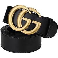 Moda nera da donna, cintura casual business neutra GG. (Oro antico, 110cm)