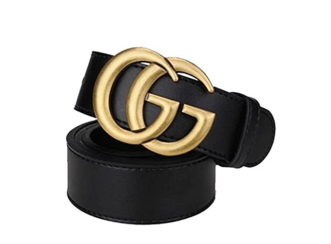 a4f2531ee41a1 Women's black fashion, GG neutral business casual belt. (Old gold, (28-30)  100cm)