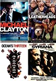 Calculated Clooney Collection: Leatherheads + Ocean's Thirteen + Syriana + Michael Clayton DVD 4 Pack