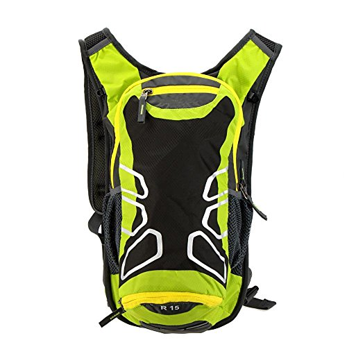 Ezyoutdoor 15L Ultralight Water-resistantCycling Shoulder Backpack for Outdoor Cycling Bike Riding Backpack Mountain Bicycle Travel Hiking Camping Running (Green)