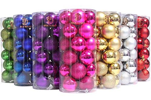 sea-team-60mm-236-classic-matte-glaze-glitter-finish-solid-color-christmas-balls-ornaments-set-multi