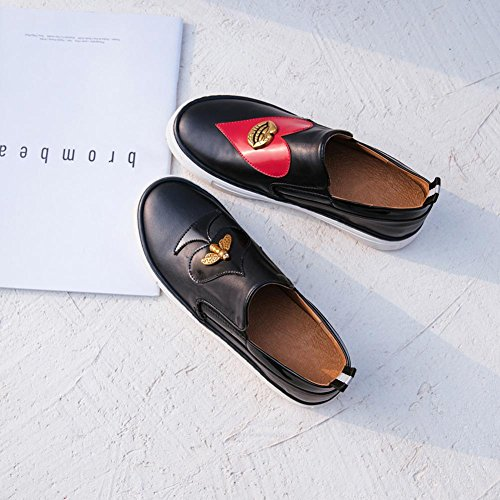 Baskets Black Chaussures KJJDE A0221 de Creepers Loafers Ville WSXY Chaussures Femme nYfvwqTU