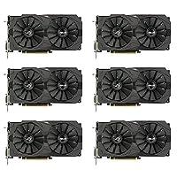 6 Packs of ASUS ROG Strix Radeon RX 570 O4G Gaming OC Edition GDDR5 DP HDMI DVI VR Ready AMD Graphics Card (ROG-STRIX-RX570-O4G-GAMING)