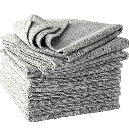 The Mop Mobs Silver Microfiber Antibacterial Cloth Wipes Out Germs & Allergens To Protect Your Familys Health Without Harsh Chemicals! 10 Pack Super Soft Cleaning Towels That Wont Scratch or Streak