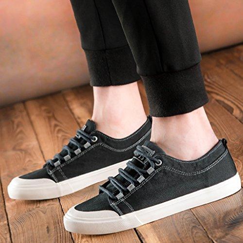 Scarpe coreano scarpe scarpe Bianca YaNanHome da di scarpe estiva da stile Black tendenza uomo uomo tela selvaggia Size 43 Scarpe Espadrillas basse di casual Color EFFwHT