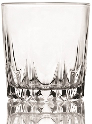 Circleware 10187 CG Society Ambition Double Old Fashioned Whiskey Drinking Glasses, 10 oz, Clear