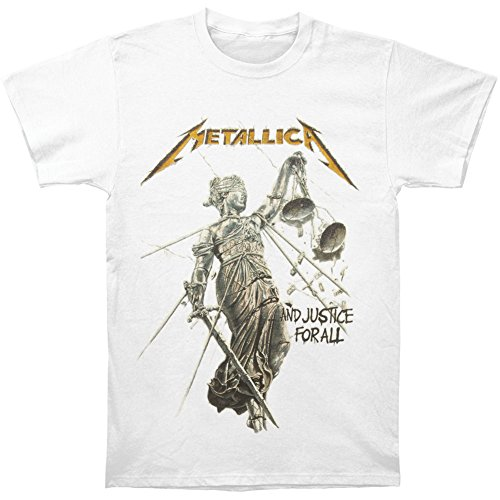 Metallica Men's Justice White T-shirt XX-Large White by Metallica