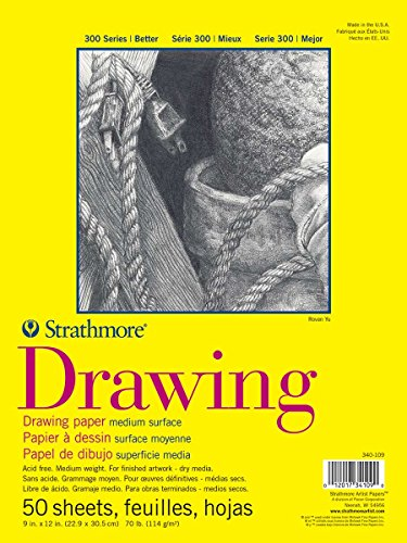 Strathmore 300 Series Drawing Pad, Medium Surface, 9