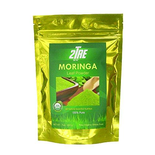 Moringa Powder – 2Tre Organics -7Oz – USDA Certified All Natural, Gluten Free – Organic Moringa Oleifera Leaf Powder – 100 Money Back Guarantee