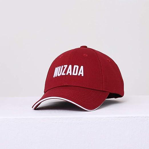 sdssup Par Bordados Gorras Sombreros curvos Rojo Vino 56-61CM ...