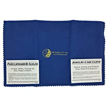 """888 Display® Polishing Cloth for Silver, Gold, Brass & Most other Metals, 12""""x15"""" Largest Size (Deep Blue)"""