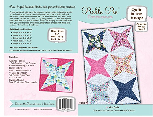 Pickle Pie Designs PPDQ07 Kite Hoop Quilt Blocks Embroidery Design Collection on CD Pattern