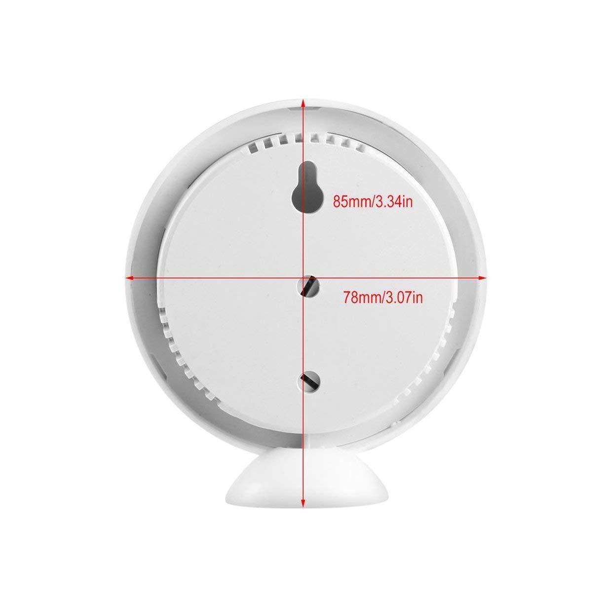 camellia Uso dom/éstico cl/ásico Interior al Aire Libre 2 en 1 Mini higr/ómetro h/úmedo preciso Term/ómetro de Humedad Medidor de Temperatura Mec/ánico Blanco