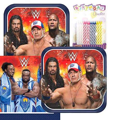 Lobyn Value Pack WWE Party Plates and Napkins