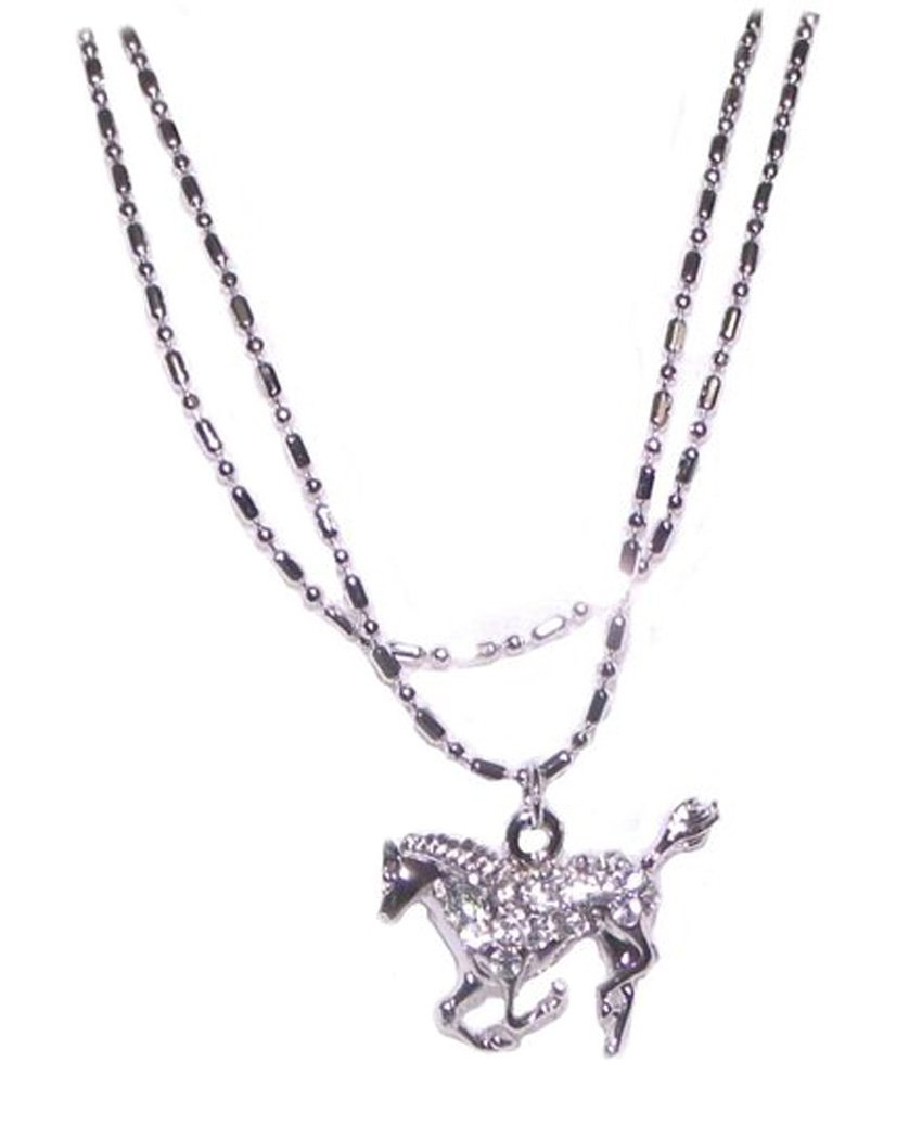 Fashion Jewelry ~ Silvertone Horse Anklet (AN 0379)