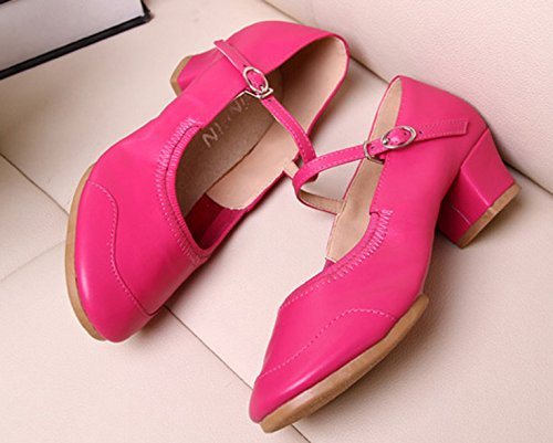 VECJUNIA Sneakers Soft Summer Modern Red Ladies Sole Rose Dance Fitness Shoes qwgrgpHF