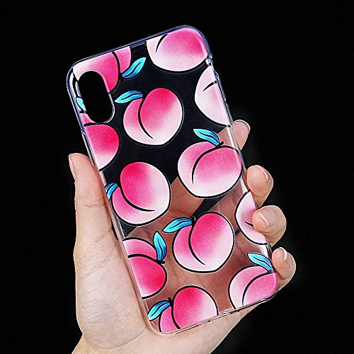 Fitted Cases - Fruits Phone Case for iPhone 5 5s 6 6s 7 8 Plus X Xs Xr Xs Max Clear Soft TPU Many Juicy Peach Phone Back Cover Cases - for iPhone 5 5S SE - Essentia Oil Seal Outdoor with