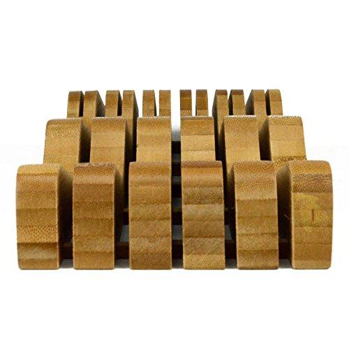 Organic Bamboo Knife Block Organizer, Heim Concept In- Drawer Premium Bamboo Wood Knife Storage Block - Holds Up To 16 Knives by Heim Concept (Image #5)