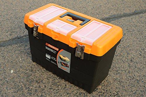 19 Jumbo - Caja de herramientas vacía Caja de herramientas caja de herramientas caja de herramientas caja de plástico - B/L/h - 27 cm/49 cm/32 cm: ...