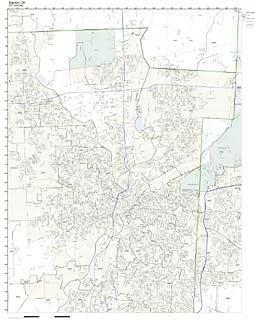 OH Zip Code Map Not Laminated Working Maps Zip Code Wall Map of Dayton