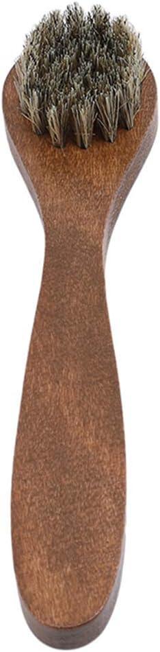 Ogquaton Brosses /à chaussures Manche en bois Entretien Soft Shine Polish Applicateurs Clean Dauber Accueil Outils Cr/éatif et utile