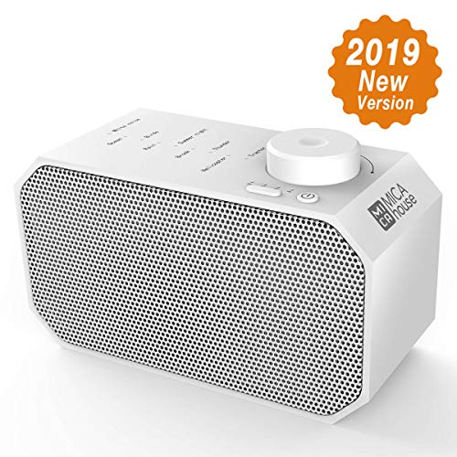 White Noise Machine, Mica House Sound Relaxation Machine with 4 Timers &9 Natural Sounds Portable Sound Therapy for Home, Office and Travel