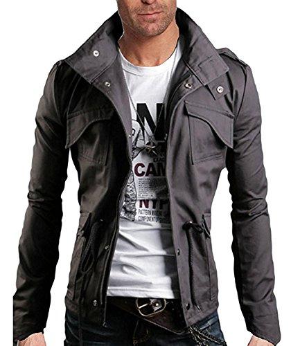 new style 2b64a 17a3c Minetom Frühling Herbst Herren Slim Fit Jacke Übergangsjacke Modern  Freizeit Mantel Zip Jacket