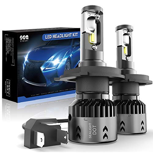 H4/9003 LED Headlight Bulbs Conversation Kit SEALIGHT HB2 Hi/Lo Beam LED Headlamp with Fan 6000K Xenon White -2 Year Warranty(2 - Toyota Tercel Headlamp Headlight