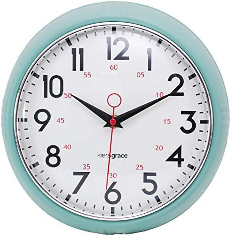 kieragrace Retro wall-clocks, 9.5 , Green