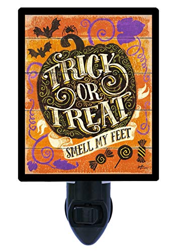 Halloween Night Light, Smell My Feet, Trick or Treat, Pumpkin