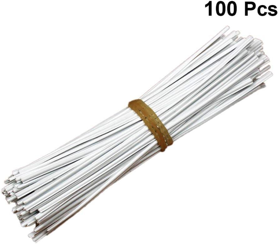 Milisten 100 Piezas de Tiras de Nariz de Metal Cubierta de Boca de Alambre Cubierta de Puente de Nariz Clips de Nariz Plana para Coser Diy Manualidades Artesanales Suministros de Accesorios Multiusos