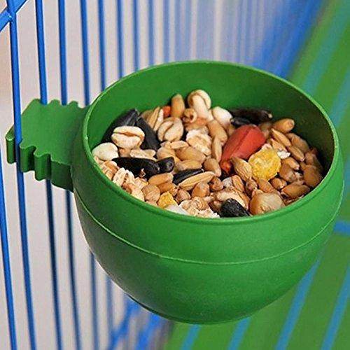 Food Bowl - Parrot Bird Hamster Feed Bowl Cage Hanging Drinking Food Feeder Cup Feeding - Slow Headache Ears Ball Gerbil Ceramic Maze Rabbit Down Animal Bird Plastic Eating Infant Meal Wa