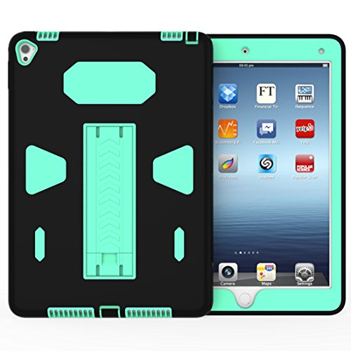 Solobay Case ipad 6/AIR 2 Shockproof with Kickstand 2 in 1 ipad ipad 6/AIR 2 Rubber Child Proof Tablet Case Cover For ipad 6/AIR 2 Heavy Duty Tough Rugged Hybrid Stand Shockproof Case