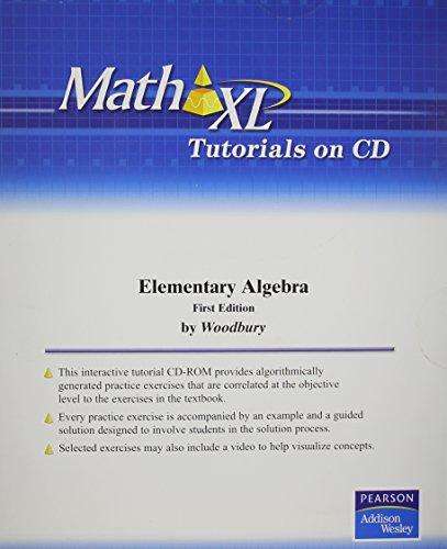 MathXL Tutorials on CD for Elementary Algebra